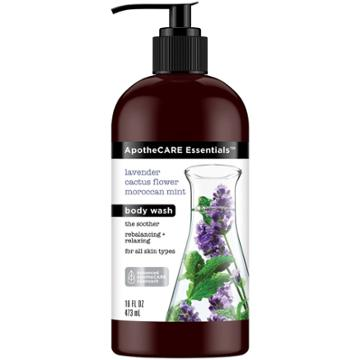 Apothecare Essentials With Lavender Cactus Flower Moroccan Mint Body Wash