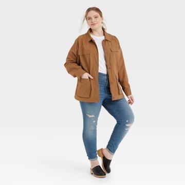 Women's Plus Size Anorak Jacket - Universal Thread Brown