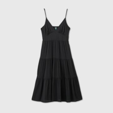 Women's Sleeveless Tiered Dress - Wild Fable Black