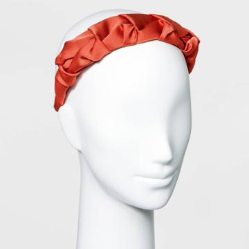 Solid Satin Pinched Headband - A New Day Orange