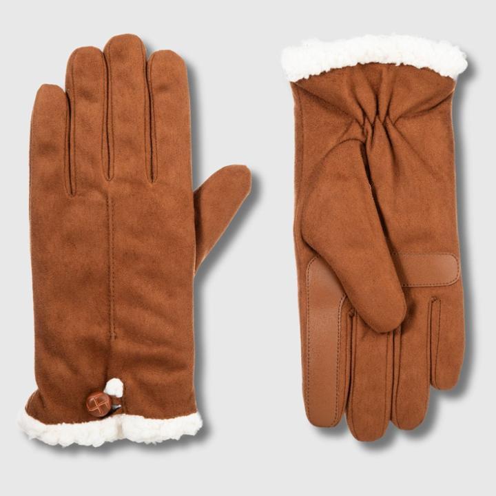 Isotoner Women's Smartdri Microfiber Glove With Smarttouch Technology - Black S/m, Women's, Size: