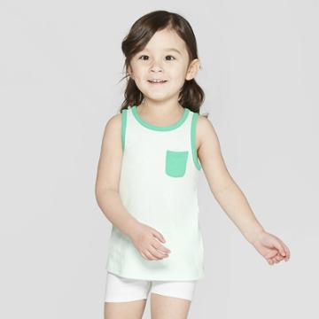 Toddler Girls' Tank Top - Cat & Jack Green