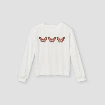 Girls' Graphic Long Sleeve T-shirt - Art Class White
