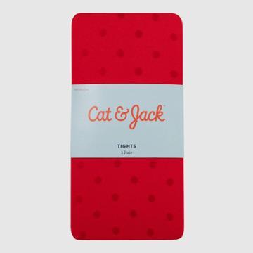 Baby Girls' Polka Dot Tights - Cat & Jack Red