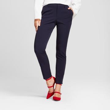 Women's Skinny Bi-stretch Twill Pants - A New Day Federal Blue 0l,