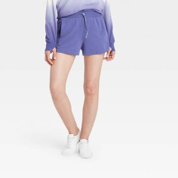 Women's Mid-rise French Terry Shorts 3.5 - All In Motion Grape