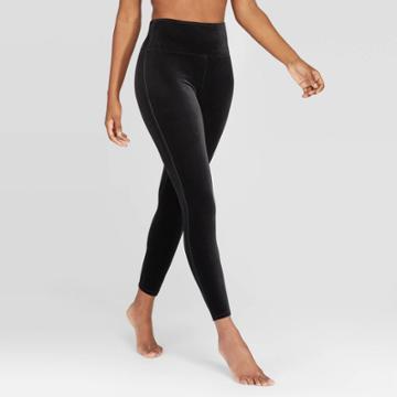 Assets By Spanx Women's Velvet Leggings - Black M,