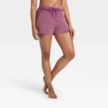 Women's Mid-rise French Terry Shorts 5 - All In Motion Purple