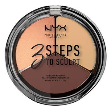 Nyx Professional Makeup 3 Steps To Sculpt Palette Medium