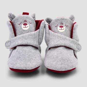 Baby Boys' Blocked Bear Constructed Bootie Slipper - Cat & Jack Brown