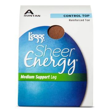 L'eggs 2pk Sheer Energy Women's Control Top Pantyhose - Suntan A, Women's