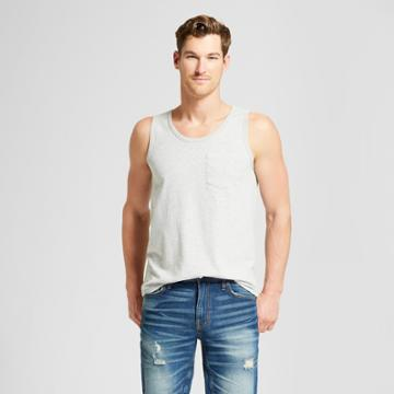 Men's Standard Fit Novelty Tank Top - Goodfellow & Co Masonry Gray