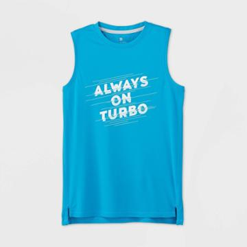 Boys' Sleeveless Always On Turbo Graphic T-shirt - All In Motion Turquoise