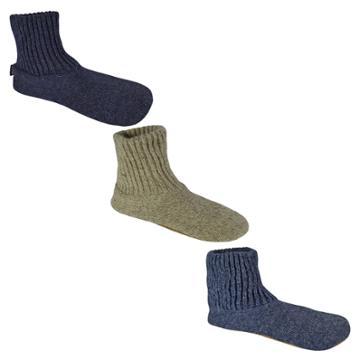 Men's Muk Luks Wool Slipper Socks - Natural S(7-8), Men's, Size: