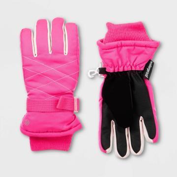 Girls' Solid Promo Ski Gloves - C9 Champion Pink 8-17, Girl's,