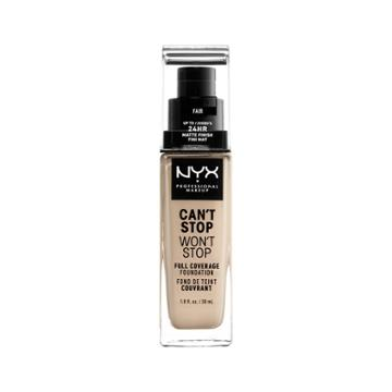 Nyx Professional Makeup Can't Stop Won't Stop Full Coverage Foundation Fair