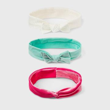 Toddler Girls' 3pk Textured Soft Headband Set - Cat & Jack