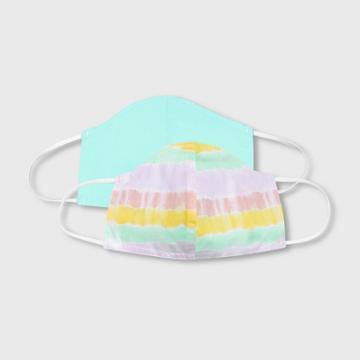 Kids' 2pk Tie-dye Cloth Face Masks - Cat & Jack Teal, Blue