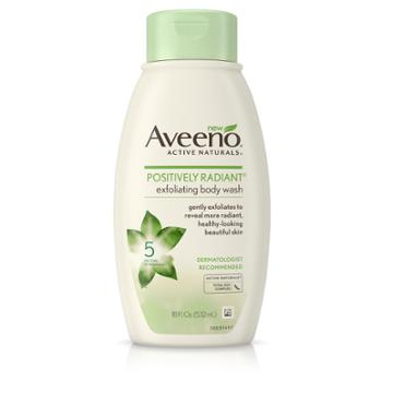 Aveeno Positively Radiant Soap Free Exfoliating Body Wash