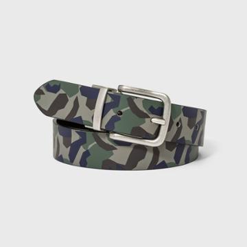 Kids' Reversible Belt - Cat & Jack L, Green/silver