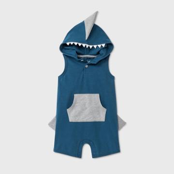 Baby Boys' Shark Short Romper - Cat & Jack Blue