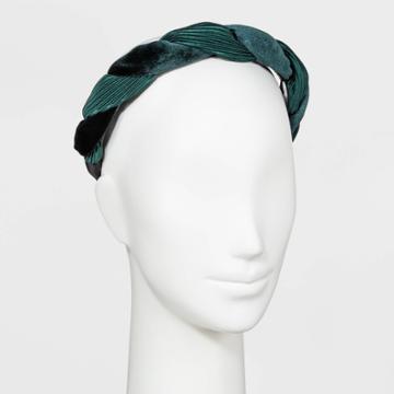 Velvet Twist Headband - A New Day Green