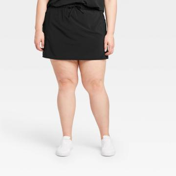 Women's Plus Size Move Stretch Woven Skorts 16 - All In Motion Black 1x, Women's,