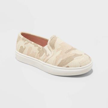 Girls' Shannon Slip-on Sneakers - Cat & Jack Camo