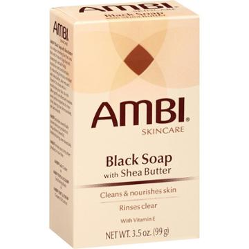 Ambi Skincare Black Soap With Shea Butter And Vitamin E Facial Cleanser