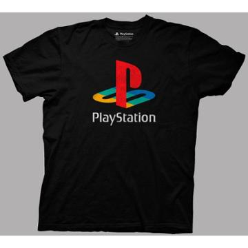 Ripple Junction Men's Playstation Short Sleeve Graphic T-shirt - Black S, Men's,