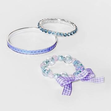 Girls' 3pk Stone And Beaded Bracelet - Cat & Jack Purple, Women's