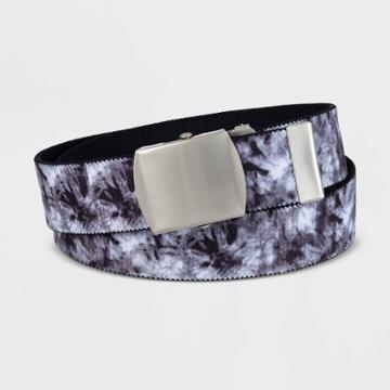 Men's 40mm Camo Print Stretch Web Belt - Original Use Black