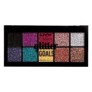 Nyx Professional Makeup Glitter Goals Cream Pro Eye Shadow Palette