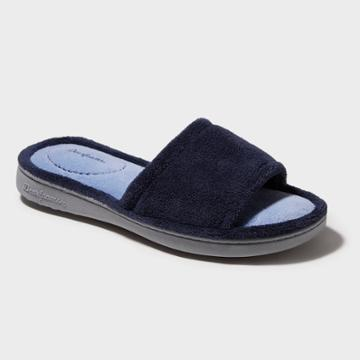 Women's Dearfoams Terry One-band Slide Slippers - Peacoat
