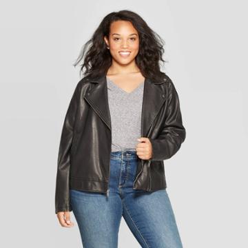 Women's Plus Size Moto Jackets - Universal Thread Black