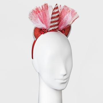 Target Unicorn Cat Ear Headband - Red