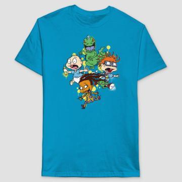 Men's Rugrats Short Sleeve Graphic T-shirt - Turquoise Blue