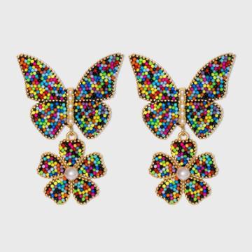 Sugarfix By Baublebar Floral Butterfly Drop Earrings