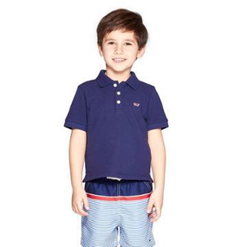 Toddler Boys' Short Sleeve Polo Shirt - Navy 4t - Vineyard Vines For Target, Blue