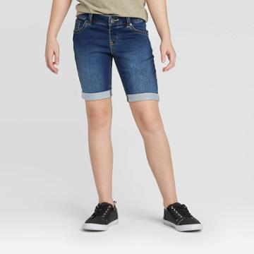 Girls' Jean Shorts - Cat & Jack Dark Wash Xs, Girl's, Dark Blue
