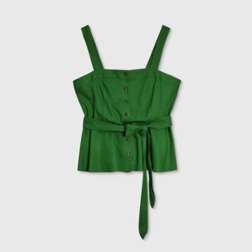 Women's Tank Top - Who What Wear Green S, Women's,