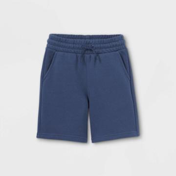 Kids' Knit Jogger Shorts - Cat & Jack Blue