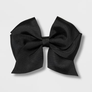 Girls' Solid Bow Clip - Cat & Jack Black