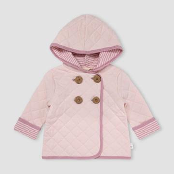 Burt's Bees Baby Baby Girls' Quilted Jacket - Light Pink