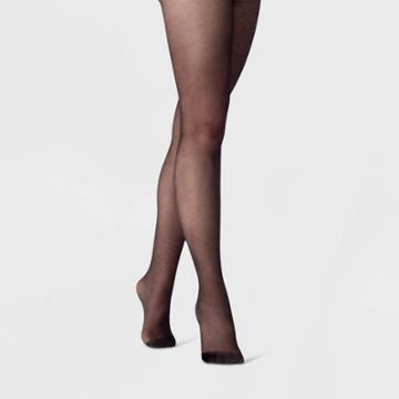 Women's Micro Texture Tights - A New Day Black