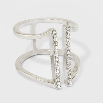 Rhinestone Bar Ring - A New Day