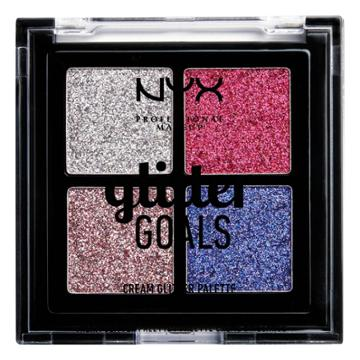 Nyx Professional Makeup Glitter Goals Cream Quad Palette Love On Top