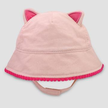 Baby Girls' Kitty Poms Woven Hat - Cat & Jack Pink