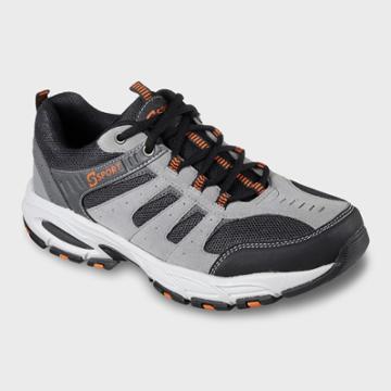 Men's Sport Designed By Skechers Feint Athletic Sneakers - Gray 8.5, Gray White Orange