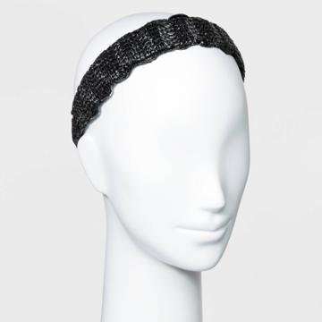 Solid Woven Wide Headband - A New Day Black